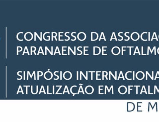 -NAO DEFINIDO- 43° Congresso da Associação Paranaense de Oftalmologia e XVI Simpósio Internacional de Atualização em Oftalmologia